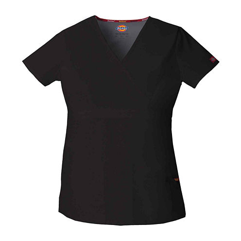 Dickies® Womens Mock Wrap Scrub Top–Plus