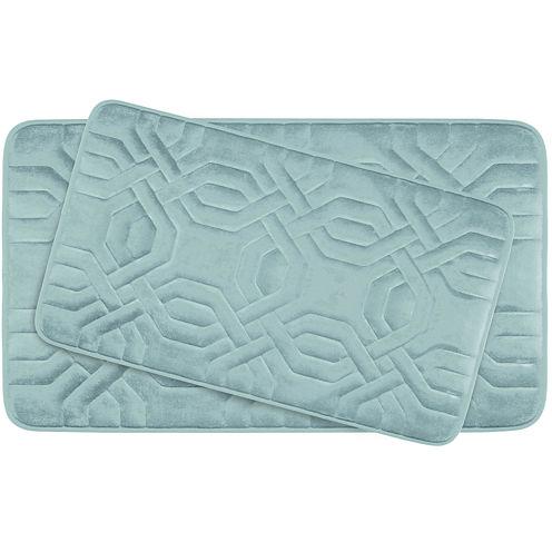 Bounce Comfort Chain Ring Memory Foam 2-pc. Bath Mat Set