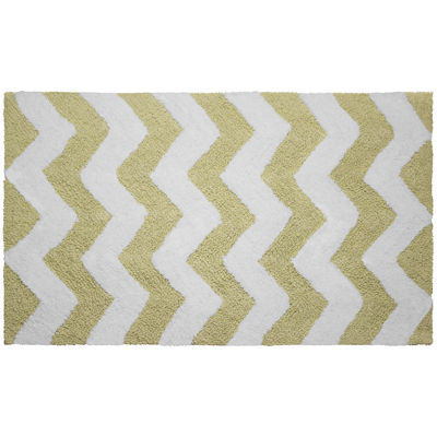 Jeane Pierre Zigzag Reversible Cotton Bath Mat