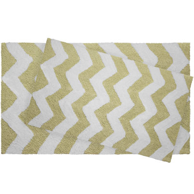 Jeane Pierre Zigzag Reversible Cotton 2-pc. Bath Mat Set