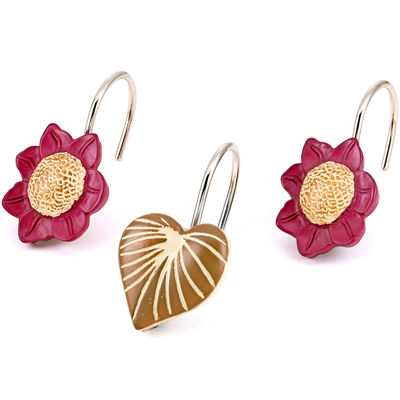 Popular Bath Lillian Floral Shower Curtain Hooks