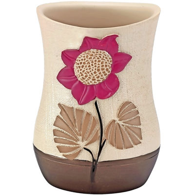 Popular Bath Lillian Floral Beige Tumbler