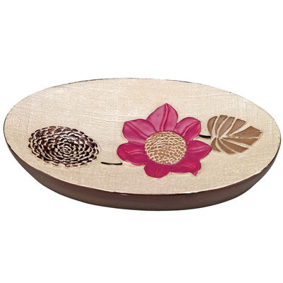 Popular Bath Lillian Floral Beige Soap Dish
