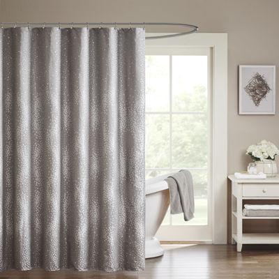 Madison Park Crawford Jacquard Shower Curtain