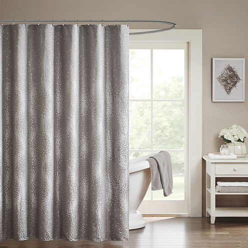 Madison Park Crawford Jacquard Shower Curtain