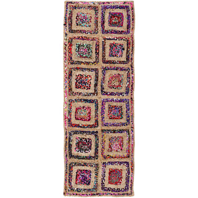 Better Trends Diamond Braided Runner Rug