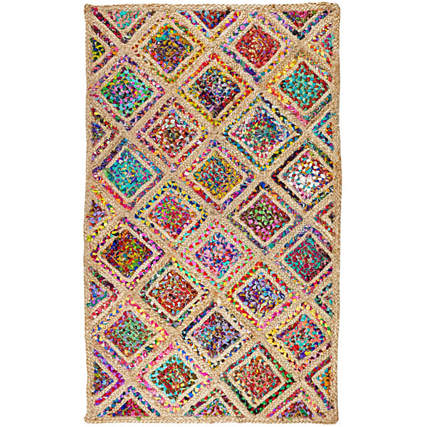 Better Trends Diamond Braided Rectangular Rug