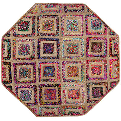 Better Trends Diamond Braided Octagonal Rug