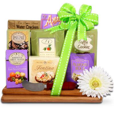 Alder Creek Springtime Gourmet Bamboo Cutting Board Gift Set
