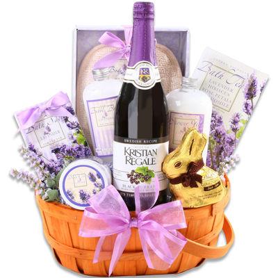 Alder Creek Relaxing Easter Lavender Basket Gift Set