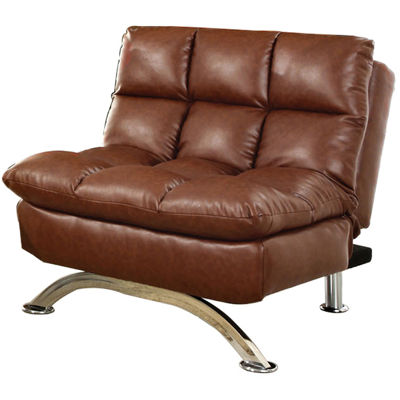 Callie Convertible Faux Leather Chair