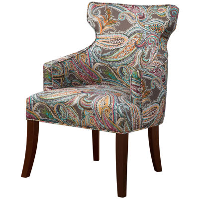 Madison Park Kita Winged-Arm Accent Chair