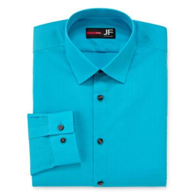 JF J.Ferrar Easy-Care Solid-Long Sleeve Broadcloth Dress Shirt - Big & Tall