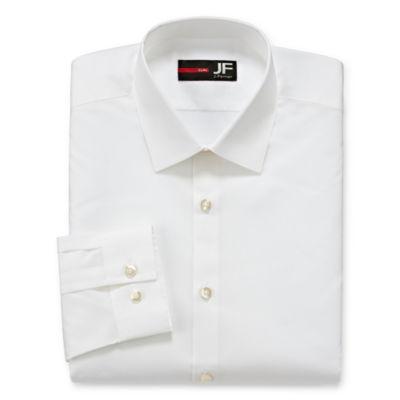 JF J.Ferrar Easy-Care Solid Long Sleeve Broadcloth Dress Shirt