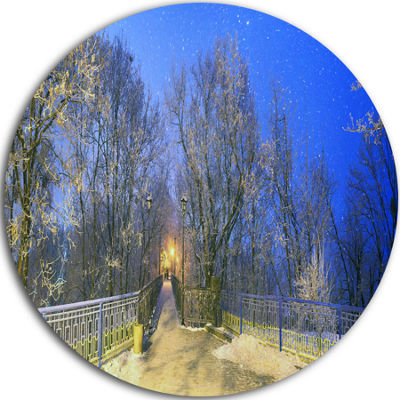 Design Art Mariinsky Garden with Blue Sky Circle Metal Wall Art
