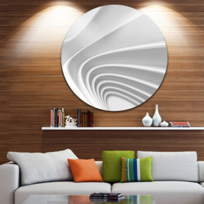 Design Art Fractal Bulgy Layered 3D Waves Circle Metal Wall Art