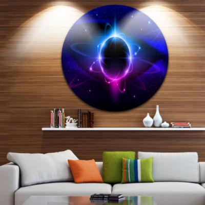 Design Art Fractal Black Star Circle Metal Wall Art