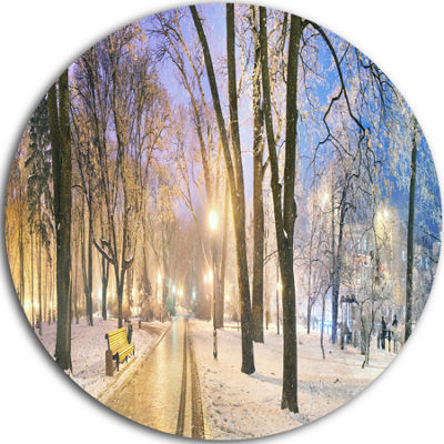 Design Art Mariinsky Garden Long Shot Circle MetalWall Art