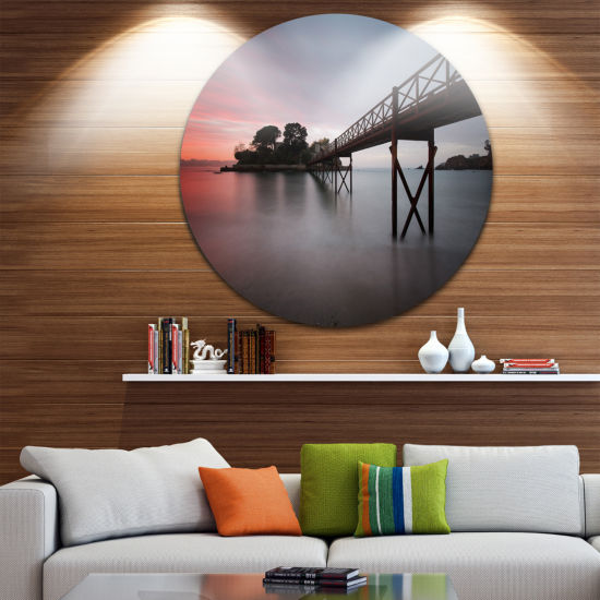 Design Art Santa Cruz Island Spain Circle Metal Wall Art