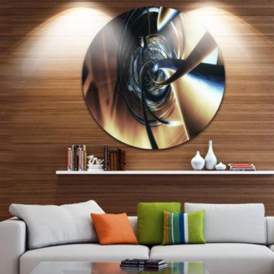 Design Art Fractal 3D Tangled Center Circle MetalWall Art