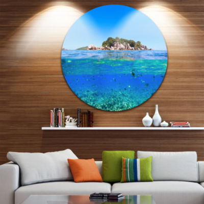 Design Art Under and Above the Waters Circle MetalWall Art