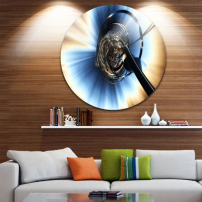 Design Art Fractal 3D Tangled Knot Circle Metal Wall Art