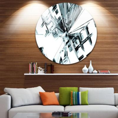 Design Art Fractal 3D Cubes Everywhere Circle Metal Wall Art