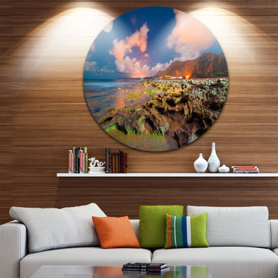 Design Art Monte Cofano Nature Reserve Circle Metal Wall Art
