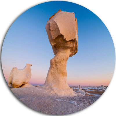 Design Art Wind Eroded Rock Formation Landscape Photo Circle Metal Wall Art