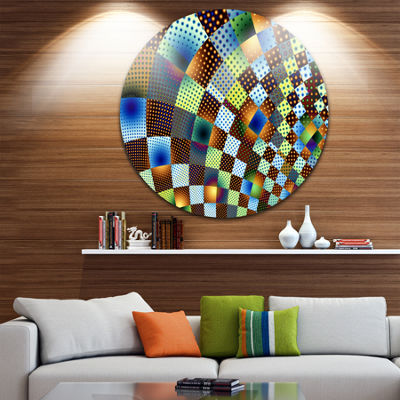Design Art Fractal Geometric Ornament Design Abstract Circle Metal Wall Art
