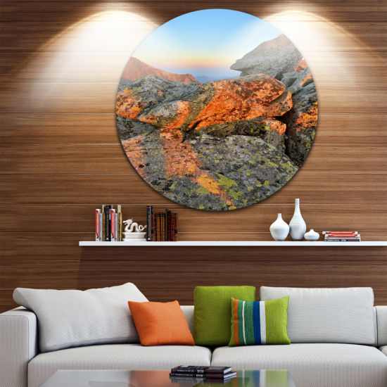 Design Art Tatra Mountains Peak Landscape Photography Circle Metal Wall Art