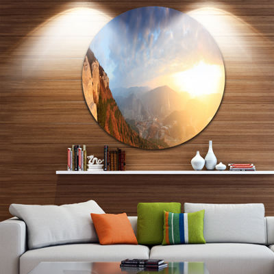 Design Art Cave City Eski Kermen Landscape Photography Circle Metal Wall Art