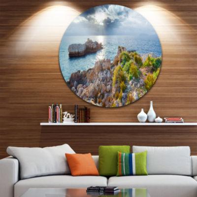 Design Art Piscina di Venere Reserve Landscape Photo Circle Metal Wall Art