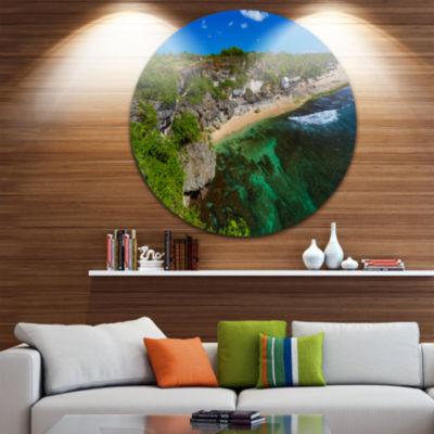 Design Art Balangan Beach Bali Indonesia Ultra Vibrant Seascape Metal Circle Wall Art