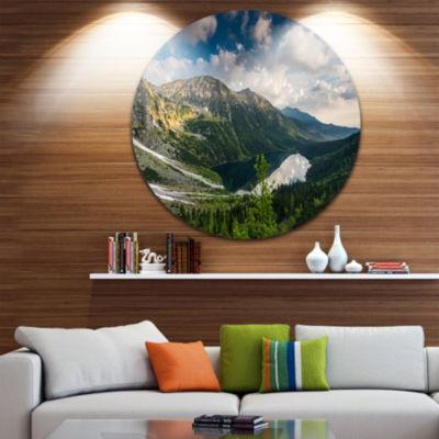 Design Art Summer at Polish Tatra Mountains UltraVibrant Landscape Metal Circle Wall Art