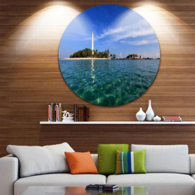 Design Art Lengkuas Island Indonesia Ultra VibrantSeascape Metal Circle Wall Art