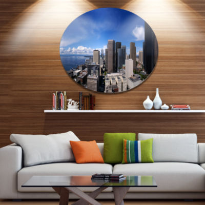 Design Art Seattle Downtown from Smith Tower ExtraLarge Metal Circle Wall Art