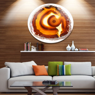 Design Art Vibrant Agate Geode Slice Large Abstract Metal Artwork
