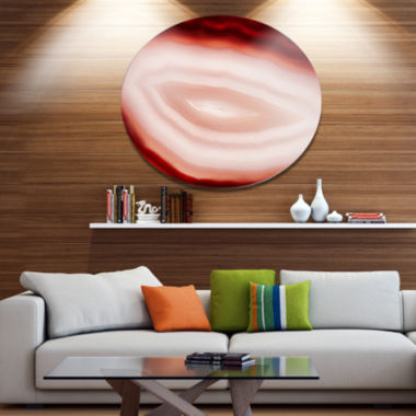 Design Art Agate with Chalcedony Geological Crystal Large Abstract Metal Artwork