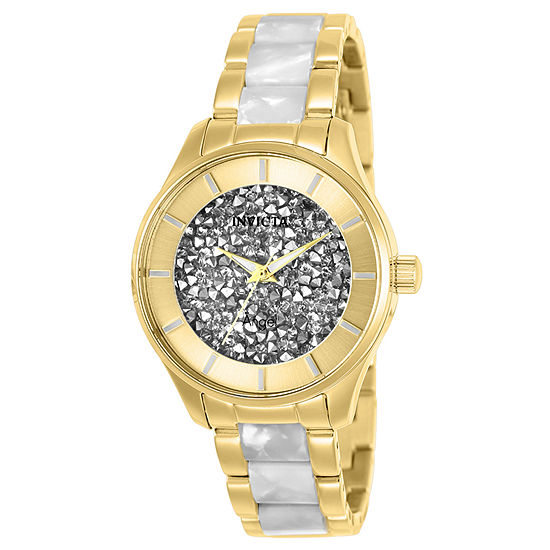 Invicta Angel Womens Two Tone Stainless Steel Bracelet Watch-25245
