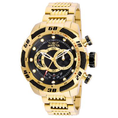 Invicta Speedway Mens Gold Tone Bracelet Watch-25484