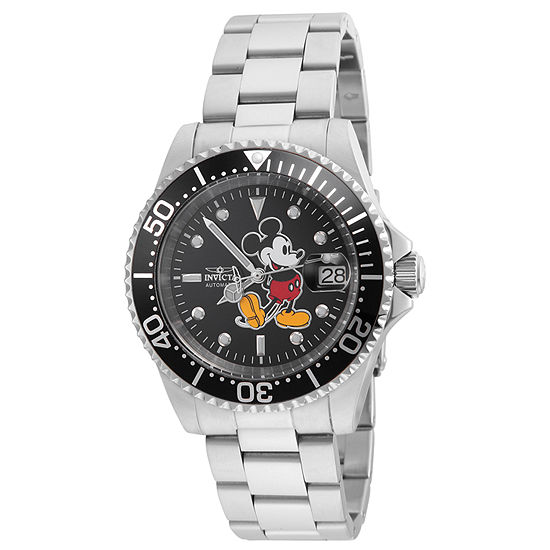 Invicta Pro Diver Unisex Adult Automatic Silver Tone Stainless Steel Bracelet Watch - 24757