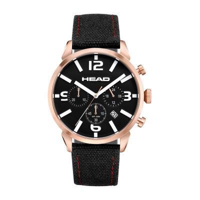 Head Unisex Black Strap Watch-He-006-04