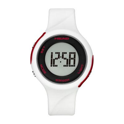 Head Unisex White Strap Watch-He-107-01