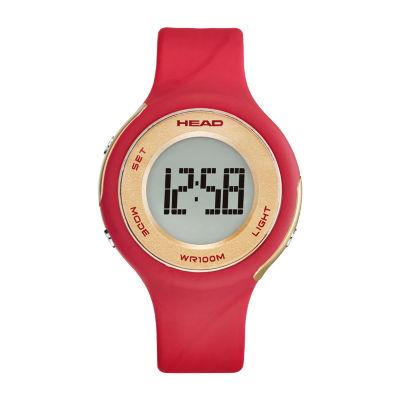 Head Unisex Red Strap Watch-He-107-03