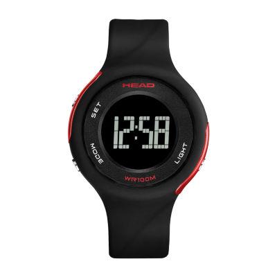 Head Unisex Black Strap Watch-He-107-04