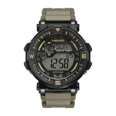 Head Unisex Brown Strap Watch-He-109-02