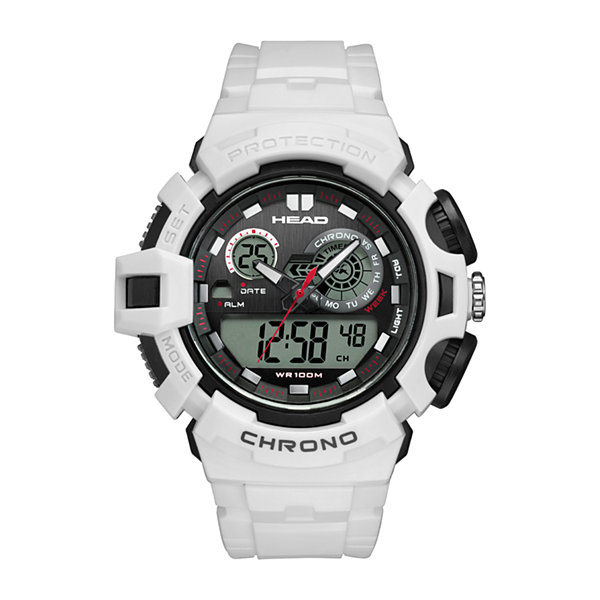Head Unisex White Strap Watch-He-110-01