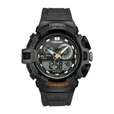 Head Unisex Black Strap Watch-He-110-03