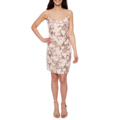 Scarlett Sleeveless Shift Dress-Petite
